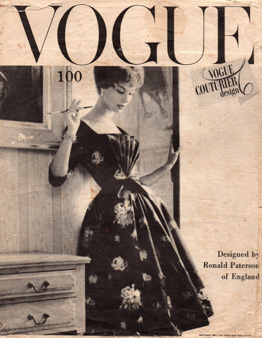 Vogue 100 Ronald Paterson 50s evening dress
