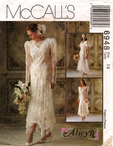 McCall's 6948 Alicyn wedding dress 90s