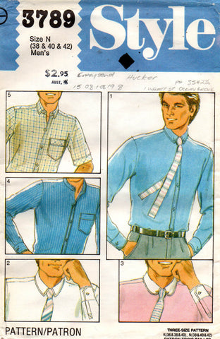 style 3789 mens 80s shirts