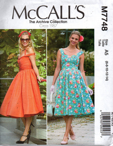 McCall's M7748 50s dress reissued