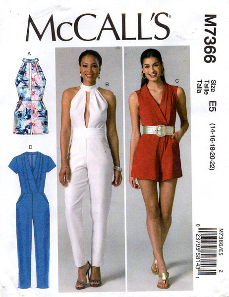 McCall's M7366 rompers and jumpsuits