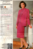 Butterick 3324 JEAN NIDETCH Womens Drop Waisted Dress & Jacket 80s Vintage Sewing Pattern Size 14 16 18 UNCUT Factory Folds NO ENVELOPE