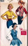 Simplicity 2240 Teen Girls Weskit & Blouse 50s Vintage Sewing Pattern Size 12 Bust 32 inches