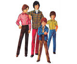 Simplicity 9595 Boys Shirt Jacket & Pants 1970s Vintage Sewing Pattern Size 6 Chest 25 inches