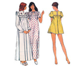 Retro Nightgown & Panties Pattern Style 4923 70s Vintage Sewing Pattern Size 12 or 14