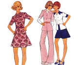 Style 4127 Womens Boho Top/ Jacket Pants & Skirt 70s Vintage Sewing Pattern Size 12 Bust 34 inches