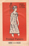 Mail Order 4651 Womens Zip Front Dress 70s Vintage Sewing Pattern Size 14 1/2 Bust 37 inches