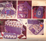Vogue 1528 Vintage 70s Travel Accessories pattern Cosmetic Case Jewelry Roll Sewing Kit Shoe Bag UNCUT Factory Folded