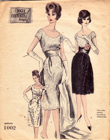 Vogue 1002 50s Couturier Design
