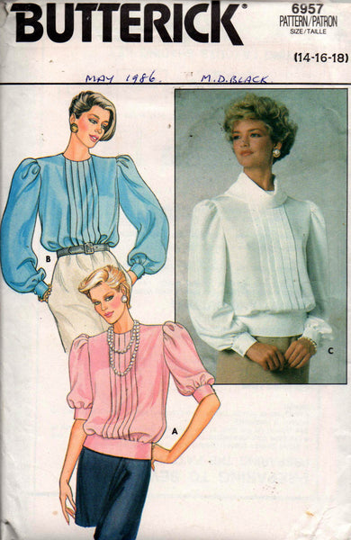 Butterick 6957 back buttoned blouse