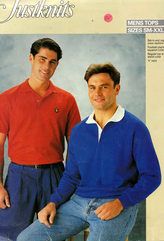 Justknits 9667 polo tops