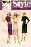 Style 2794 Womens Pullover Dress & Slim Pants Pattern 1970s Vintage Sewing Pattern Size 14 Bust 36 Inches UNCUT Factory Folded