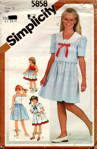 Simplicity 5858 girls dress and jacket