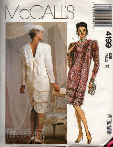McCall's 4199 wedding dress 80s