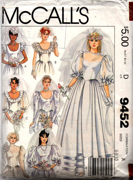 McCall's 9452 wedding dress