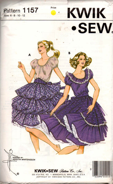 Kwik Sew 1157 square dance dress