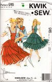 Kwik Sew 916 70s square dance dress