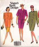 Vogue Basic Design 2635 Womens Shirtdress, Tunic & Skirt 90s Sewing Pattern Size 14 16 18 UNCUT Factory Folds