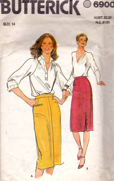 Butterick 6900 Womens Straight Skirts 80s Vintage Sewing ...