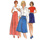 Bias Maxi Midi Skirt Pattern 70s Butterick 3751 Vintage Sewing Pattern Waist 26 1/2 inches
