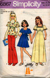 Simplicity 6867 girls dress and top