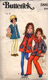 Butterick 5881 Girls 70s outfit
