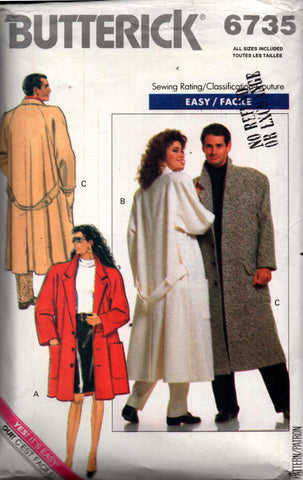 Butterick 6735 80s overcoat