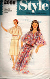 Style 2666 Womens Flared Sleeve Top Skirt & Dress 70s Vintage Sewing Pattern Size 8 or 10 Bust 31 1/2 or 32 1/2 inches