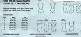 Bevknits 5004 A Womens Stretch One Piece Swimsuits 1980s Vintage Sewing Pattern Size 8 - 22 UNCUT Factory Folds