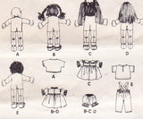 McCall's 9074 80s Blossom Babies Soft Dolls & Clothes Pattern