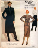 Vogue 1063 Calvin Klein 80s skirt suit