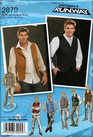Simplicity 2870 mens vests