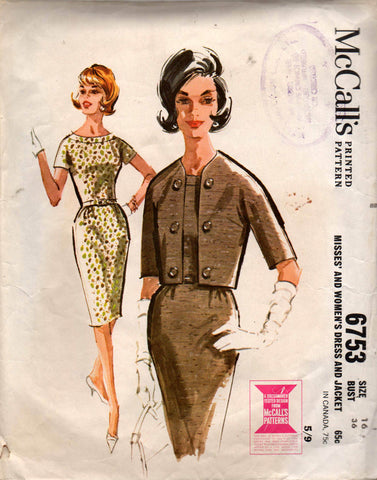 McCall's 6753 60s dress and coat