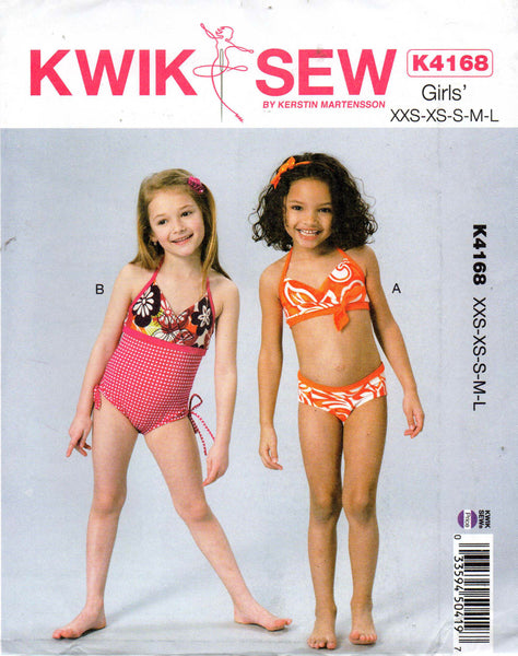 Kwik Sew 4168 girls swimsuits