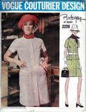 Vogue Couturier Design 2226 PERTEGAZ Womens Coatdress 60s Vintage Sewing Pattern Size 12 Bust 34 UNCUT Factory Folded with label