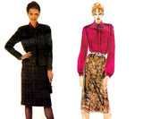 Vogue Paris Original 2770 PIERRE BALMAIN Womens Jacket Skirt & Pussy Bow Blouse Sewing Pattern Size 12 Bust 34 inches