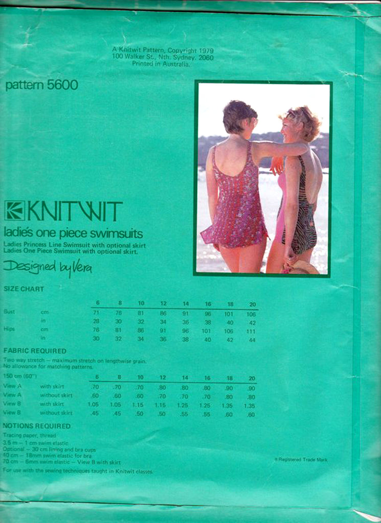 Knitwit 5600 Womens One Piece Swimsuits Princess Seam Bathing Suit ...