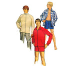Simplicity 8857 Retro Teen Boys Jacket & Swim Shorts 70s Vintage Sewing Pattern Size 16 Chest 33 1/2 inches UNCUT Factory Folds