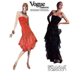 Vogue Designer Original 1701 BELVILLE SASSOON Womens Princess Seamed Cocktail Prom Formal Dress with Boned Bodice 1980s Vintage Sewing Pattern Size 12