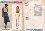Vogue Designer Original 2130 BELINDA BELLVILLE Womens Maxi Dress with Pin Tucked Bodice Button Front Size 10, 14 or 16