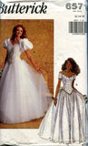 Butterick 6571 90s wedding dress