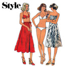 Style 1930 Womens Wrap Skirt & Bikini 70s Vintage Sewing Pattern Size 12 Bust 34 inches