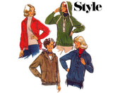 Style 2084 Womens Hooded Jacket or Top 70s Vintage Sewing Pattern Bust 34 inches Size 12 UNCUT Factory Folded