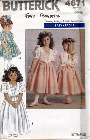 butterick 4671 girls dress