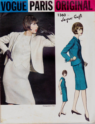 Vogue 1360 jacques griffe 60s dress and jacket