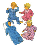 Style 4520 Baby Bunting Sleep suit & Dress 80s Vintage Sewing Pattern Size 6 months