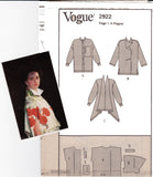 Vogue Designer Original 2922 ISSEY MIYAKE Womens Oversized Top 1990s Sewing Pattern Size 6 8 10 UNCUT Factory Folded