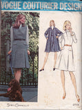 Vogue Couturier Design 2778 SYBIL CONNOLLY Womens Swing Coat & Sleeveless Dress 70s Vintage Sewing Pattern Size 16 18 Bust 38 40 inches UNCUT Factory Folded