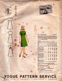 Vogue Paris Original 1640 GRES Womens Cap Sleeved A Line Dress 60s Vintage Sewing Pattern Size 10 Bust 31 inches