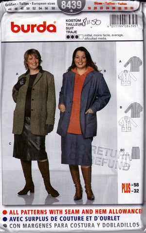 Burda 8439 dress and coat